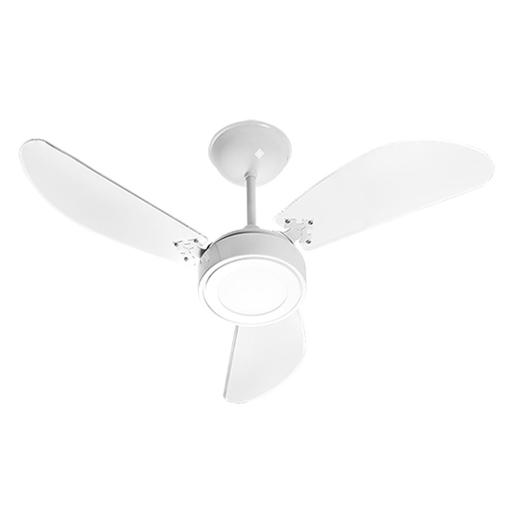 Ventilador Teto New Light LED Branco/Branco 127v Venti Delta