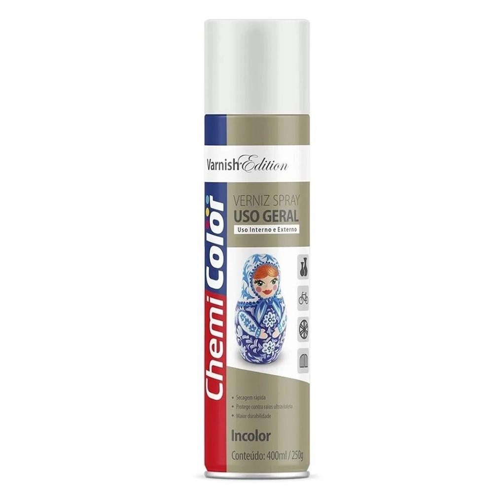Verniz Spray para Uso Geral Incolor 400ml / 250g ChemiColor