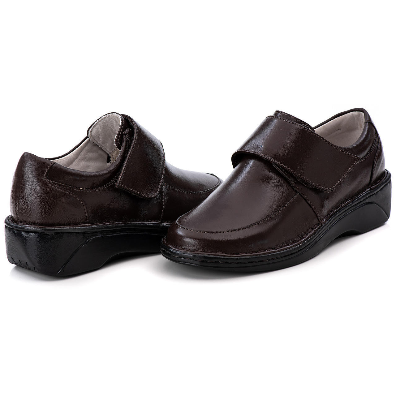 Sapato Antstress Café  Feminino em Couro Legitimo F-220