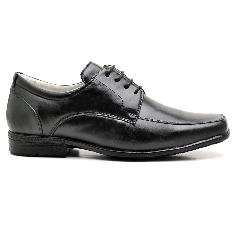 Sapato Masculino Couro de Carneiro Preto Ranster Comfort - 020