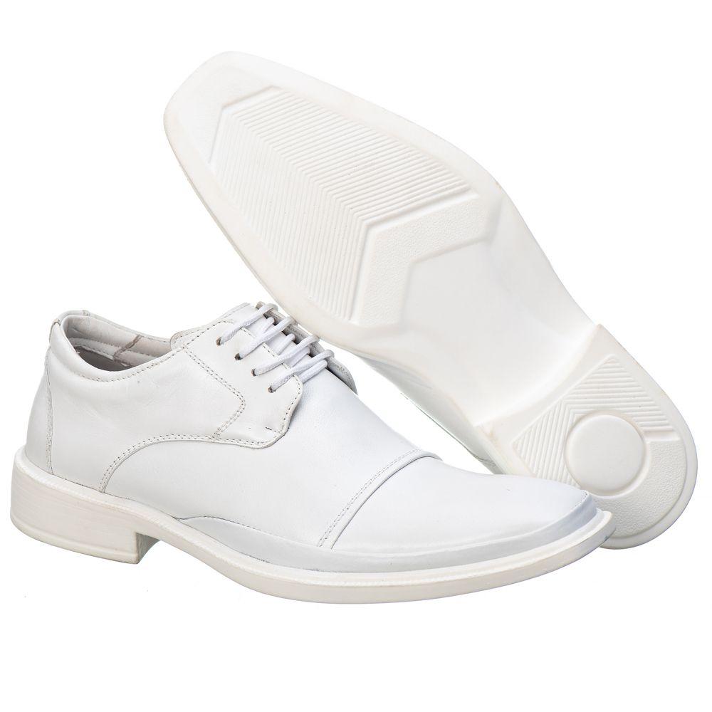 Sapato Social Masculino em Couro Mestiço Branco Ranster Comfort - 1057