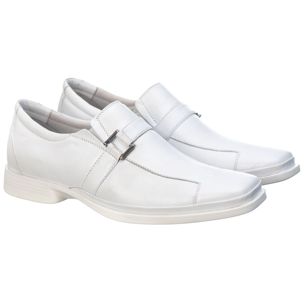 Sapato Social Masculino em Couro Mestiço Branco Ranster Comfort - 2015