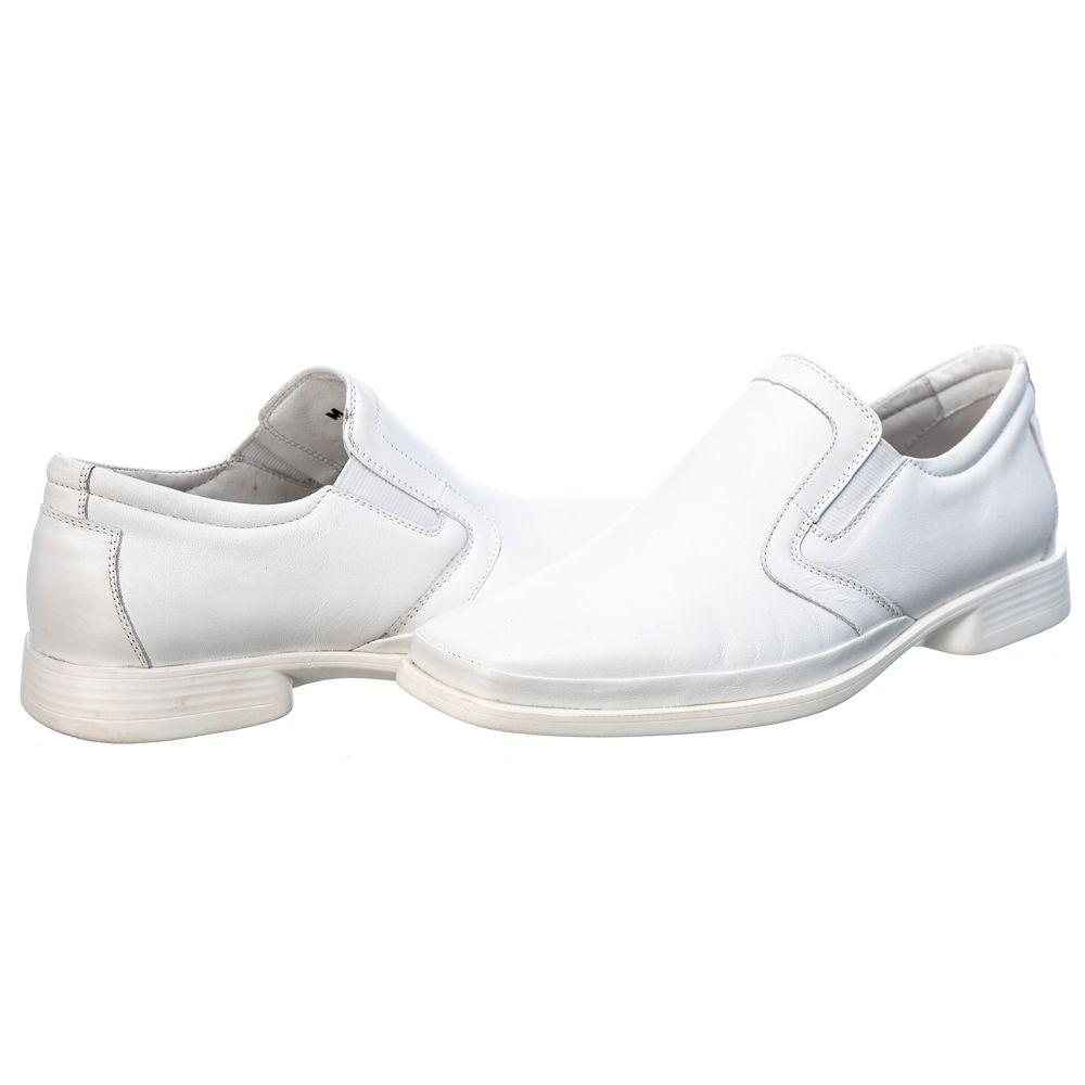 Sapato Social Masculino em Couro Mestiço Branco Ranster Comfort - 2016