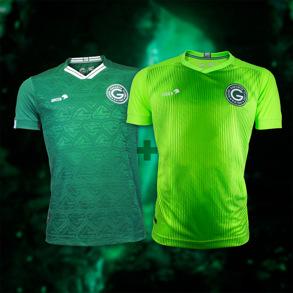 Camisa Esmeralda Masculina + Goleiro Verde Limao + Cupom Coleção 2021