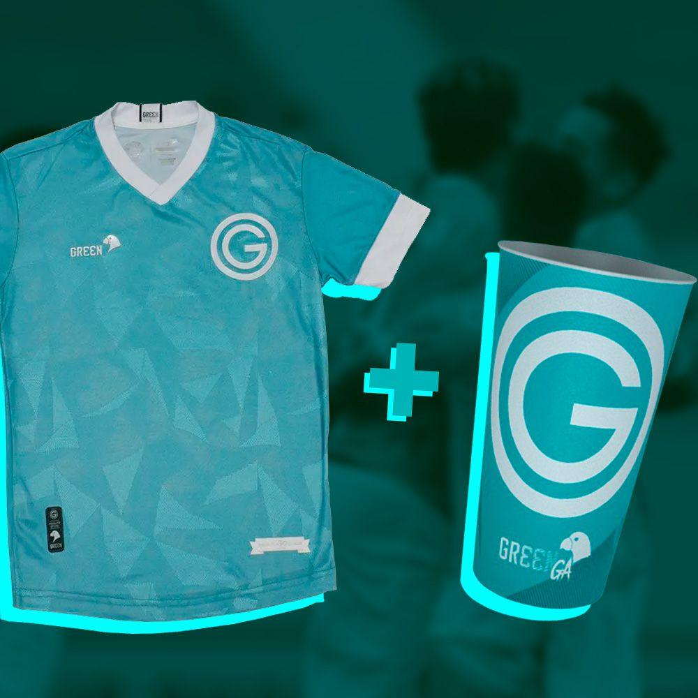 Camisa Jogo III Juvenil + Copo Gr33nga