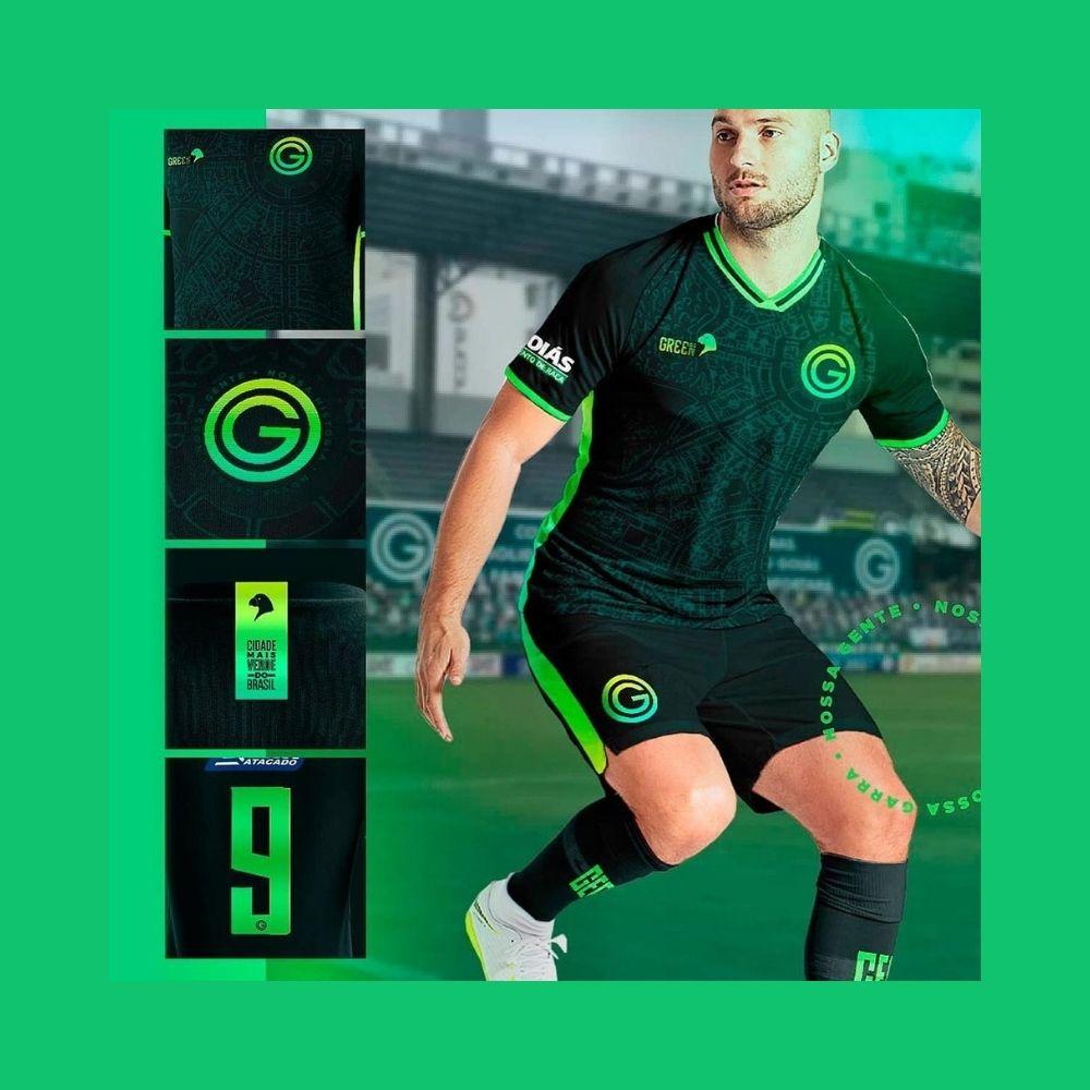 Camisa Oficial Goiás Green Dos Sonhos Jogo III 2021 Feminina