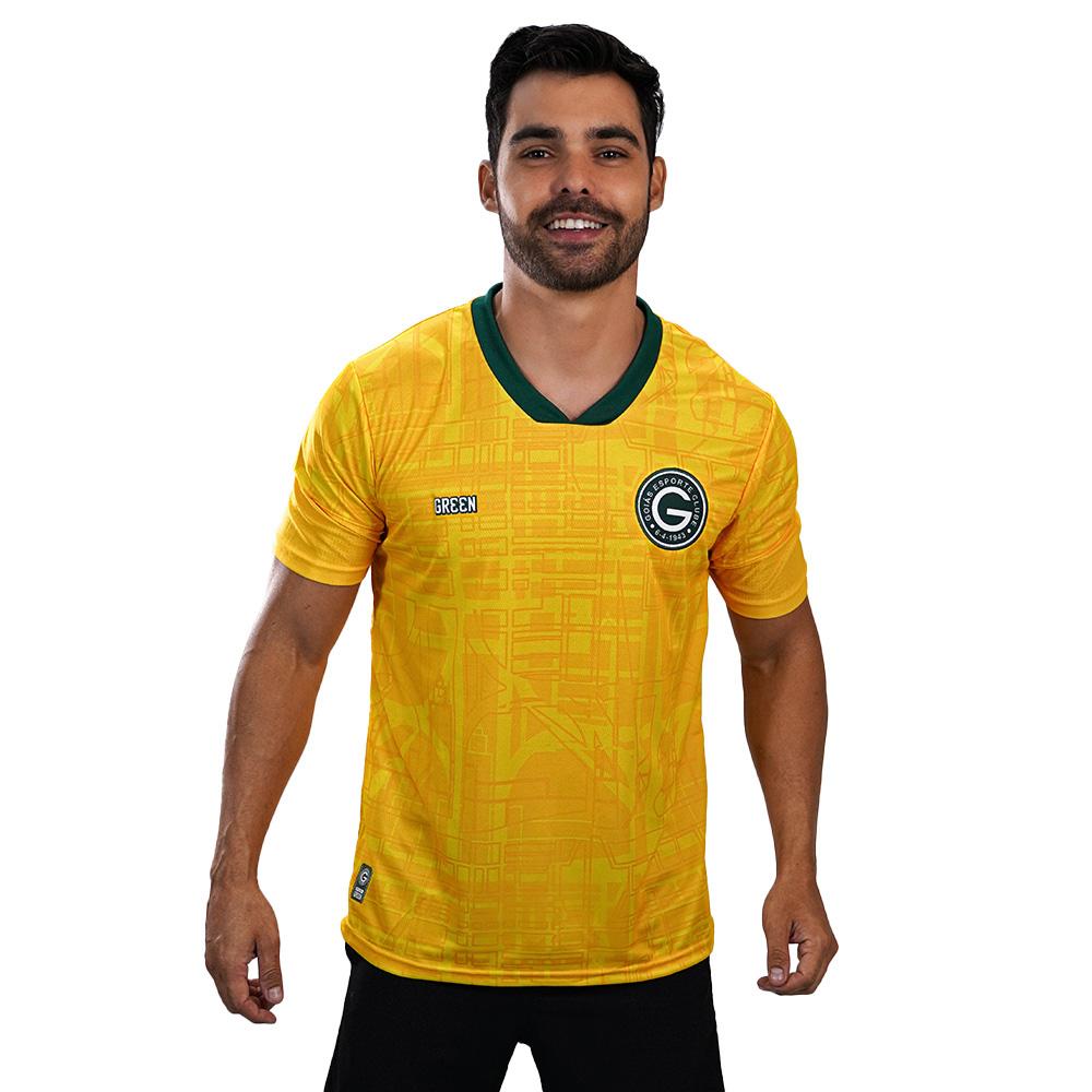 Camisa Oficial Goiás Green Goleiro Amarela 2021