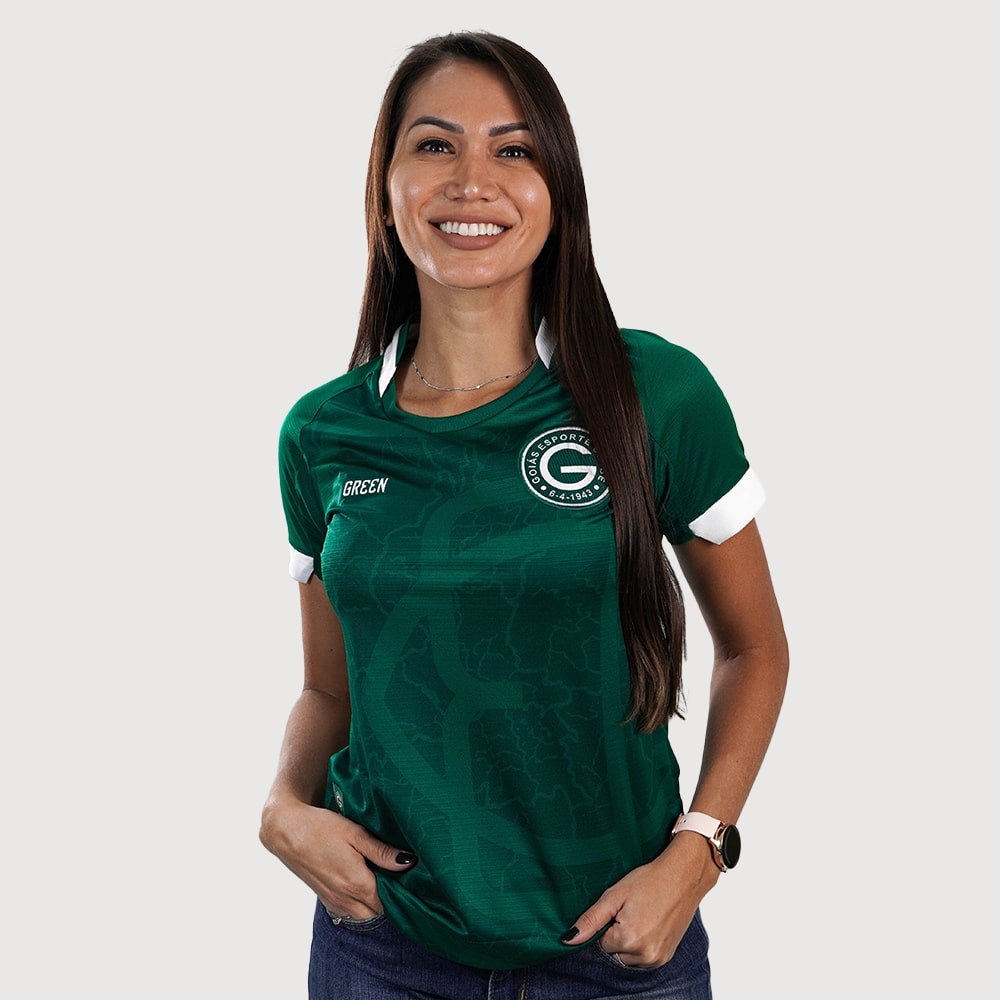 Camisa Oficial Goiás Green Jogo I 2021 Feminina