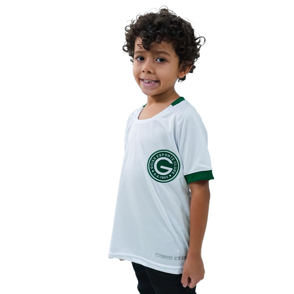 Camisa Oficial Goiás Green Jogo II 2021 Infantil