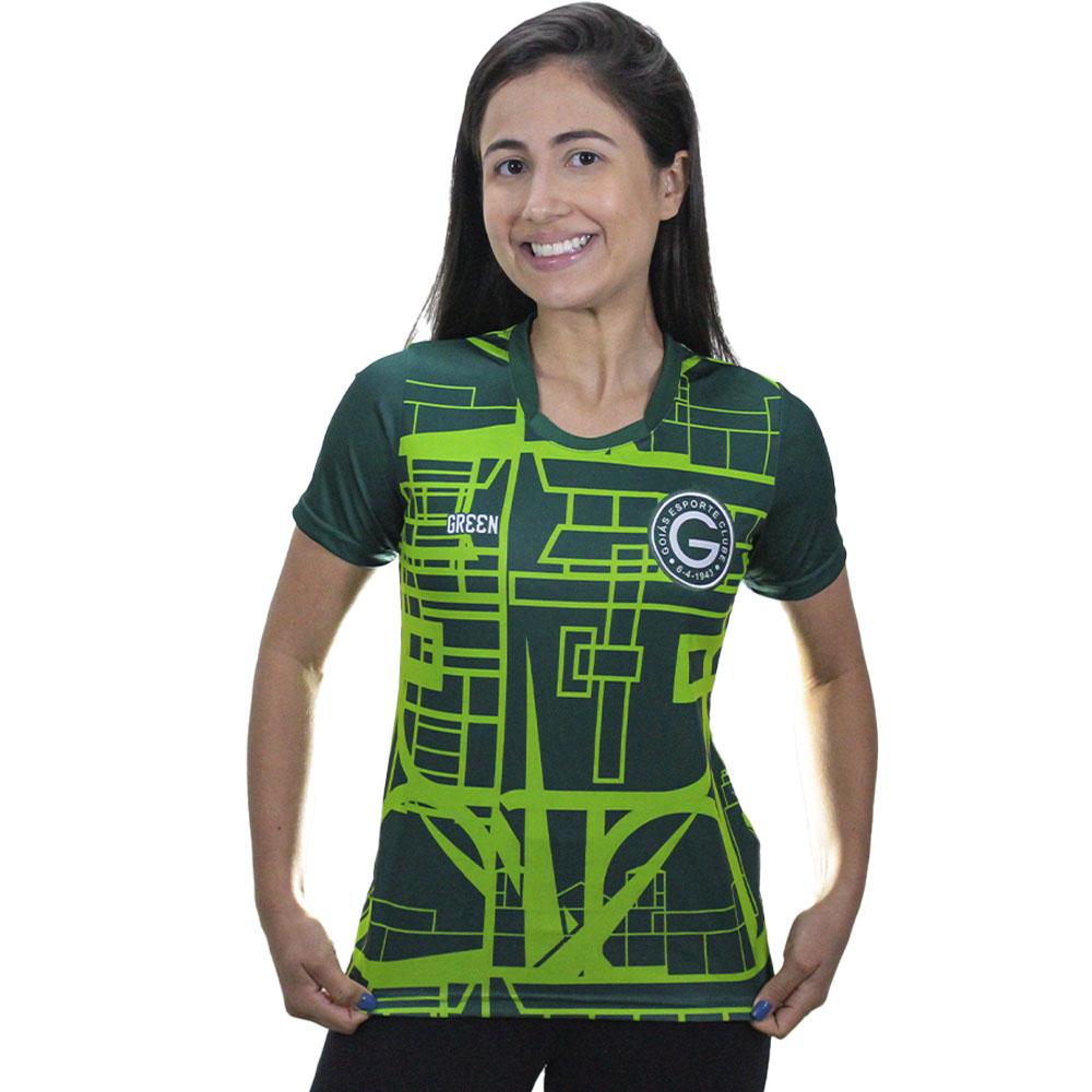 Camisa Oficial Goiás Green Pré-Jogo 2021 Feminina