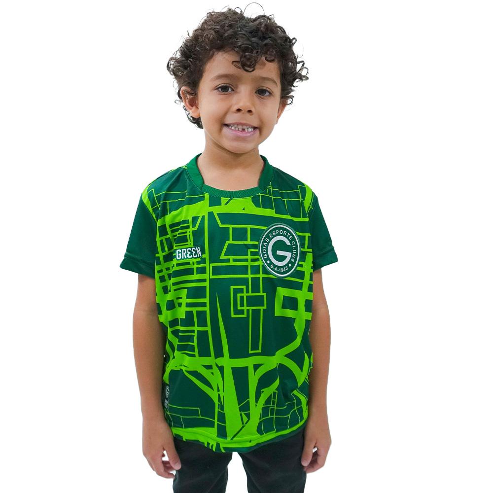 Camisa Oficial Goiás Green Pré-Jogo 2021 Infantil