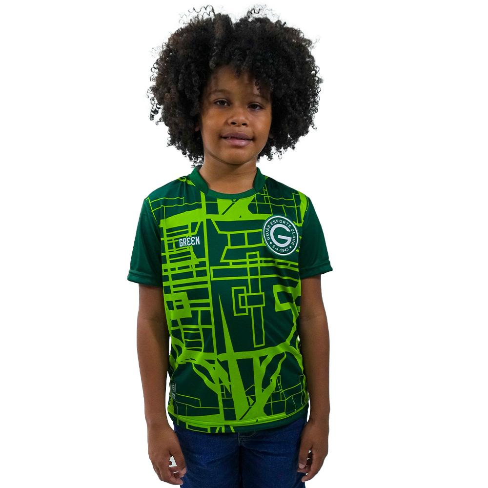 Camisa Oficial Goiás Green Pré-Jogo 2021 Juvenil