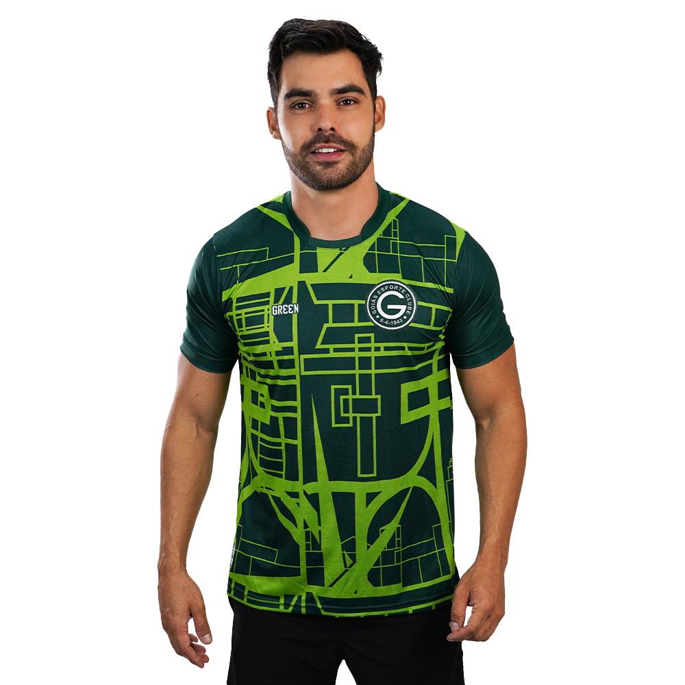 Camisa Oficial Goiás Green Pré-Jogo 2021 Masculina