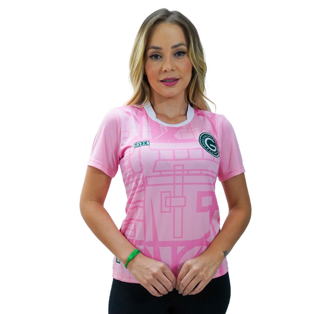 Camisa Oficial Goiás Green Rosa 2021 Feminina