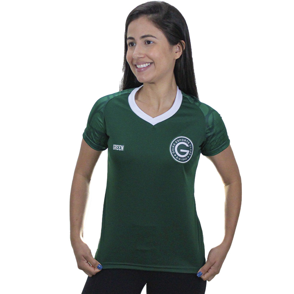 Camisa Oficial Goiás Green Treino Atleta 2021 Feminina