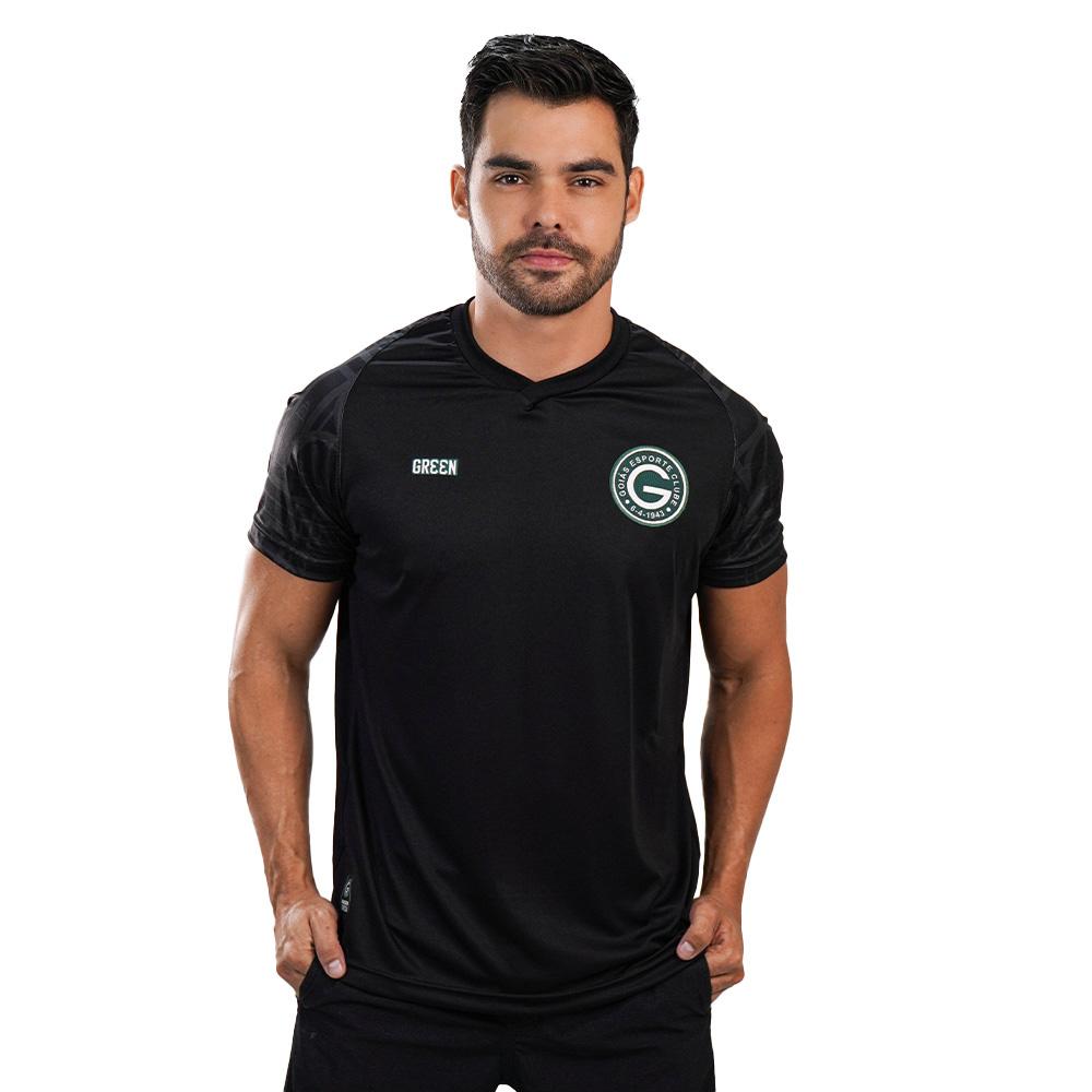 Camisa Oficial Goiás Green Treino Goleiro Preta 2021 Masculina