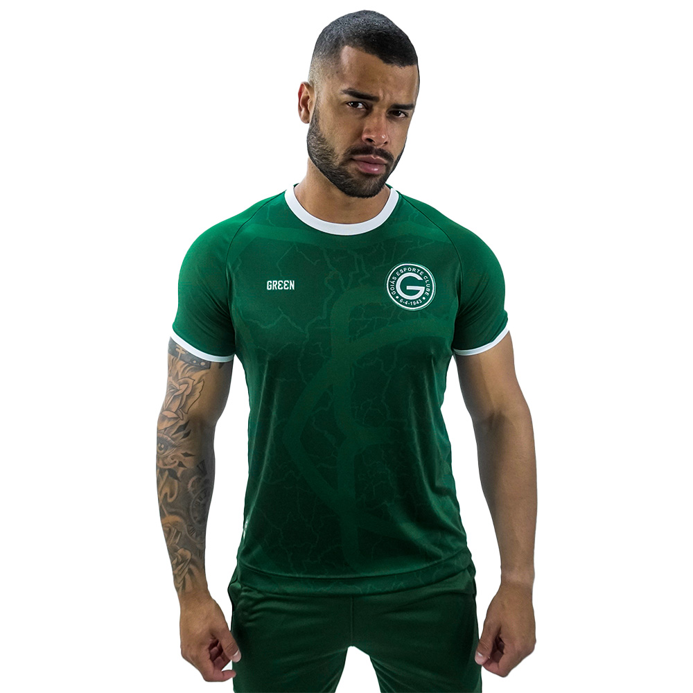 Camisa Goiás Green Torcedor Jogo I 2021 Masculina