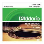 Encordoamento D'Addario EZ890 Super Light Violão 0.09