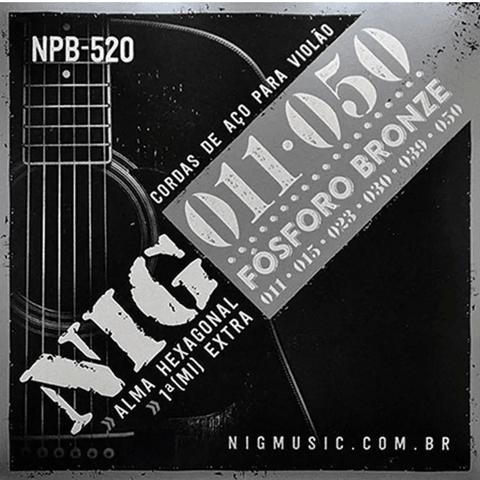 ENCORD. NIG NPB-520 VIOLAO AÇO 0.11 FOSFORO BRONZE