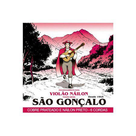 Encordoamento São Gonçalo Nylon Preto Violão