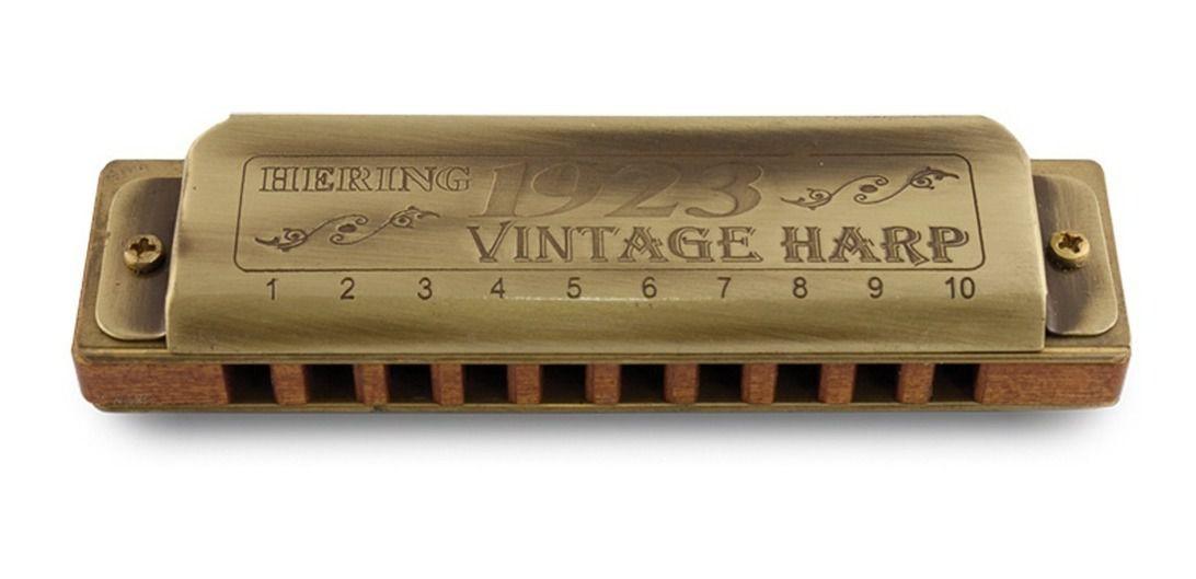 Gaita Hering 1020-C Vintage Harp 1923 20 Vozes do Madeira