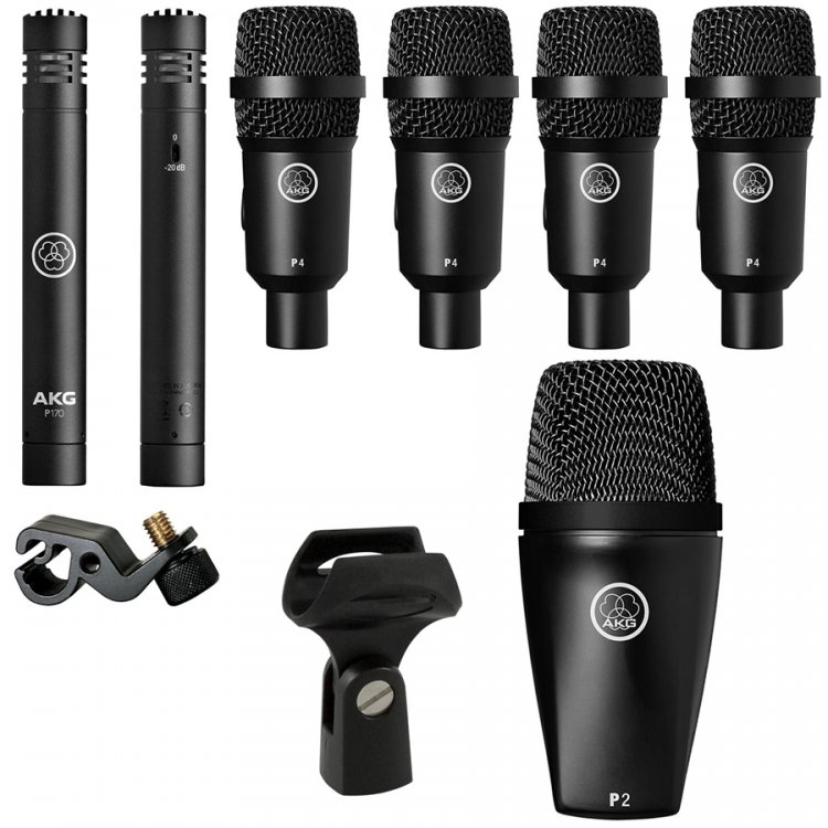 KIT AKG DRUM SET SESSION I PARA BATERIA 7 PECAS