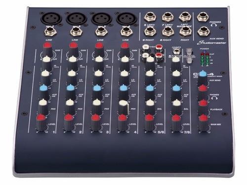 MESA DE SOM STUDIOMASTER C2S-4 8 ENTRADAS USB