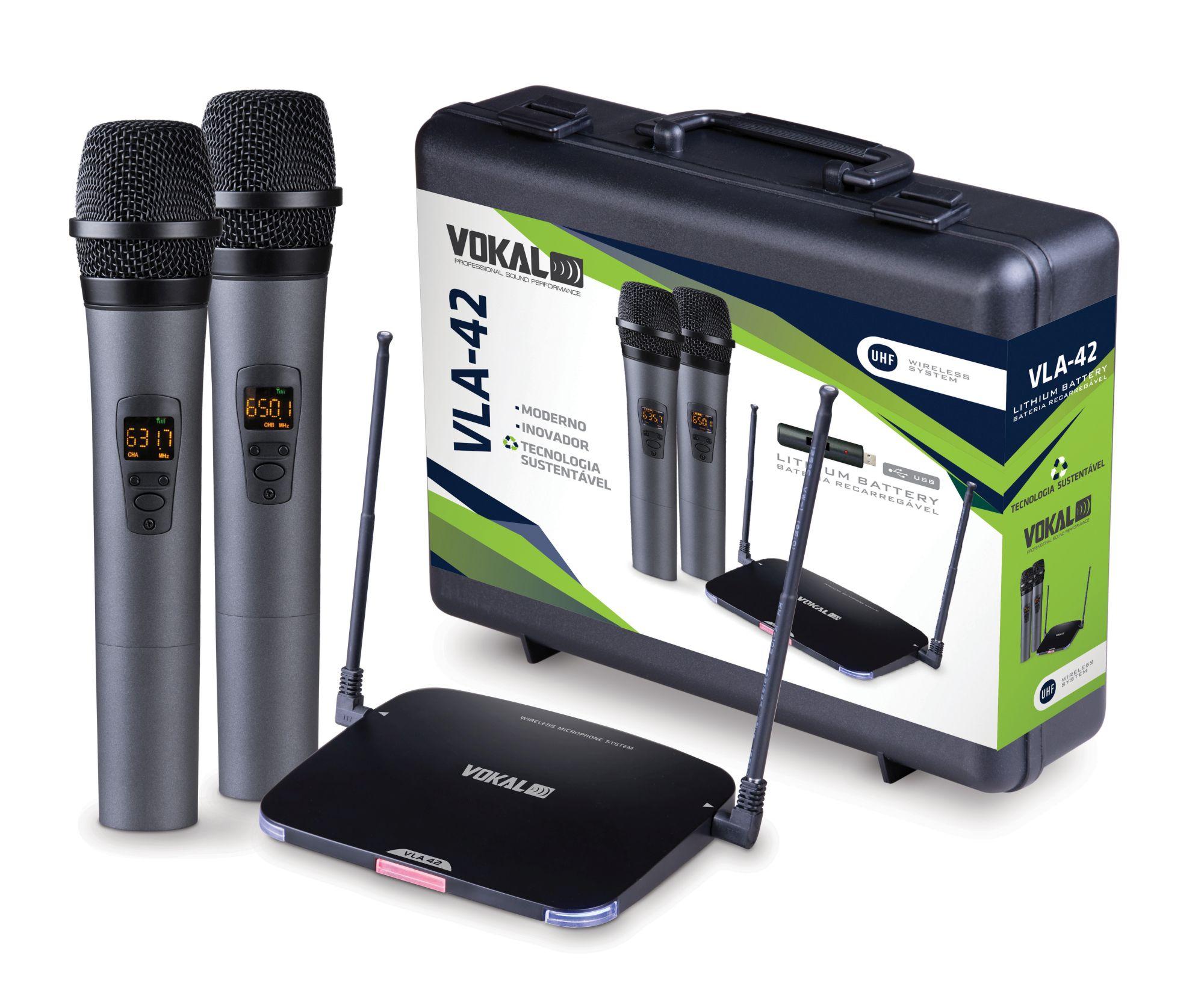 MICROFONE VOKAL VLA42 S/FIO VOKAL