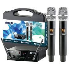 MICROFONE VOKAL VMS12 MAO DUPLO S/FIO