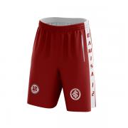Bermuda Vermelha da Camisa 12 com Logos Bordados