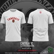 ( Pré Venda) Camiseta Branca de passeio da Camisa 12 do Inter