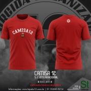 ( Pré Venda) Camiseta Vermelha de passeio da Camisa 12 do Inter
