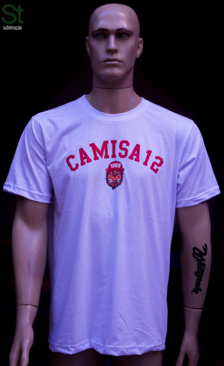 Camiseta Branca de passeio da Camisa 12 do Inter