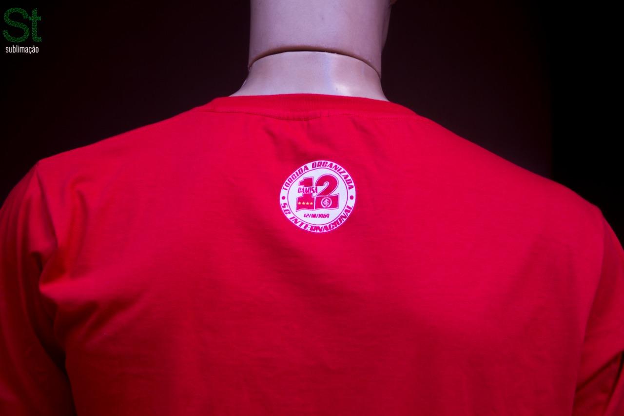 Camiseta Vermelha de passeio da Camisa 12 do Inter