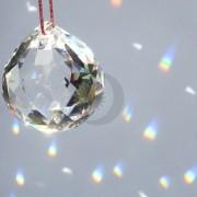 Bola cristal multifacetada