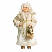Mamae Noel dourada 45 cm