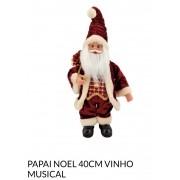Papai Noel vinho 40 cm