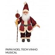 Papai Noel vinho 70 cm