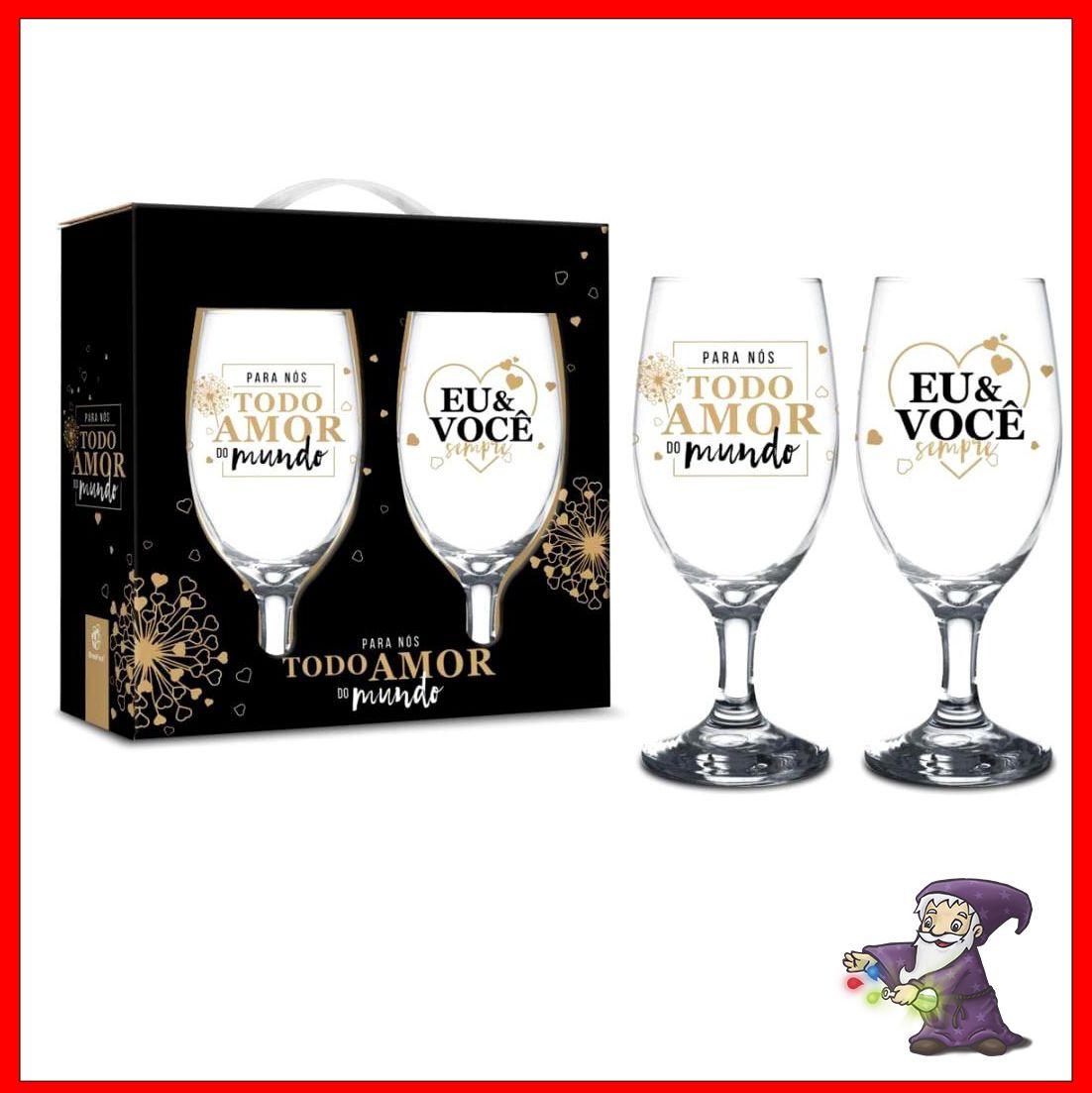 Conjunto 2 Taças Vinho - Todo amor do mundo