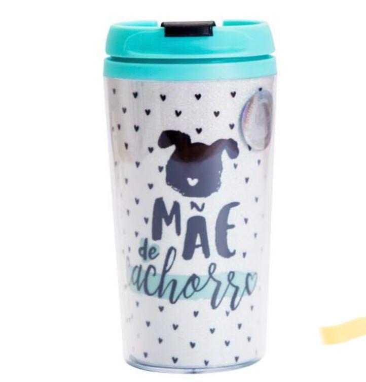 Copo Térmico Pop Glitter -Mãe de Cachorro
