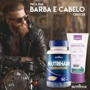 Nutrihair Barba/Cabelo 60 capsluas 500mg Nutrivale