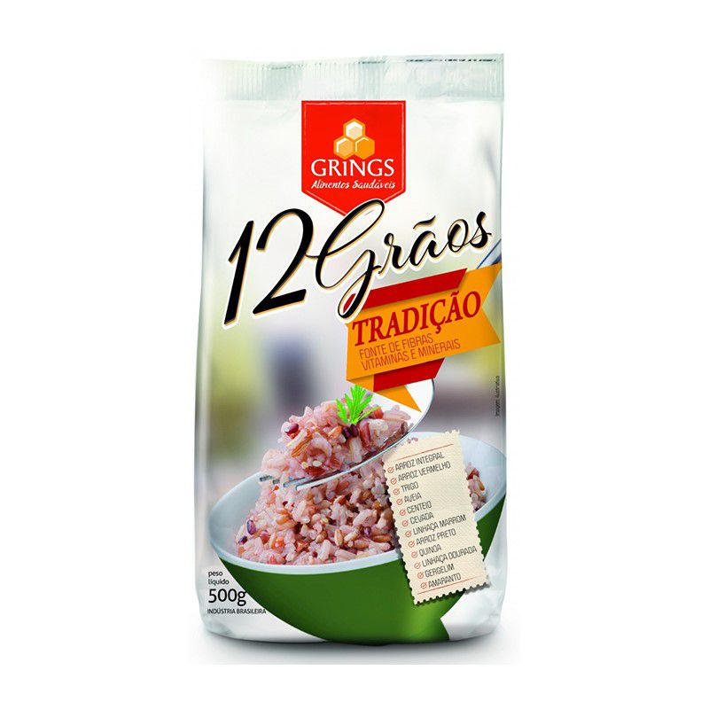 Arroz Mix 12 Grãos Grings 500g