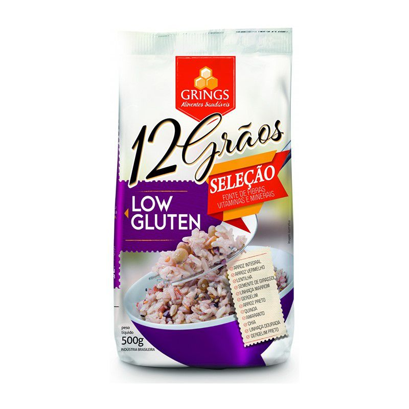 Arroz Mix 12 Grãos Low Gluten Grings 500g