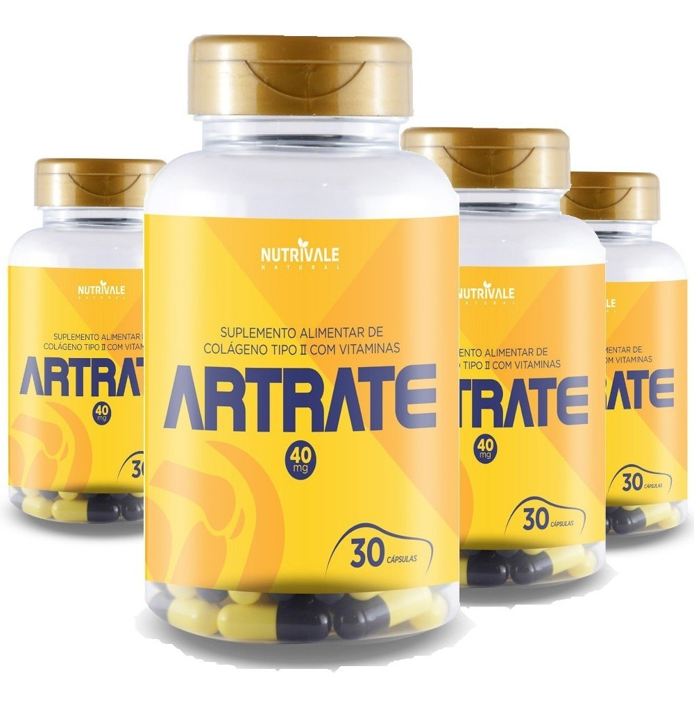 Artrate Colageno Tipo 2 - 30 caps 40 mg Nutrivale