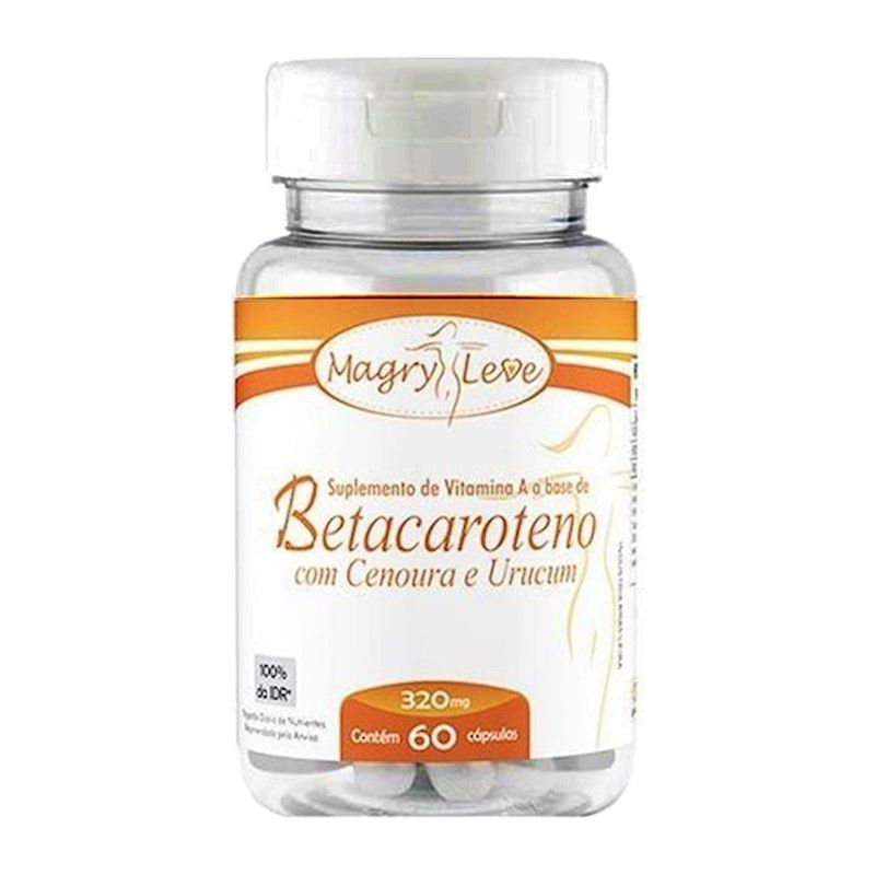 Betacaroteno Cenoura e Urucum 60 Caps 320mg