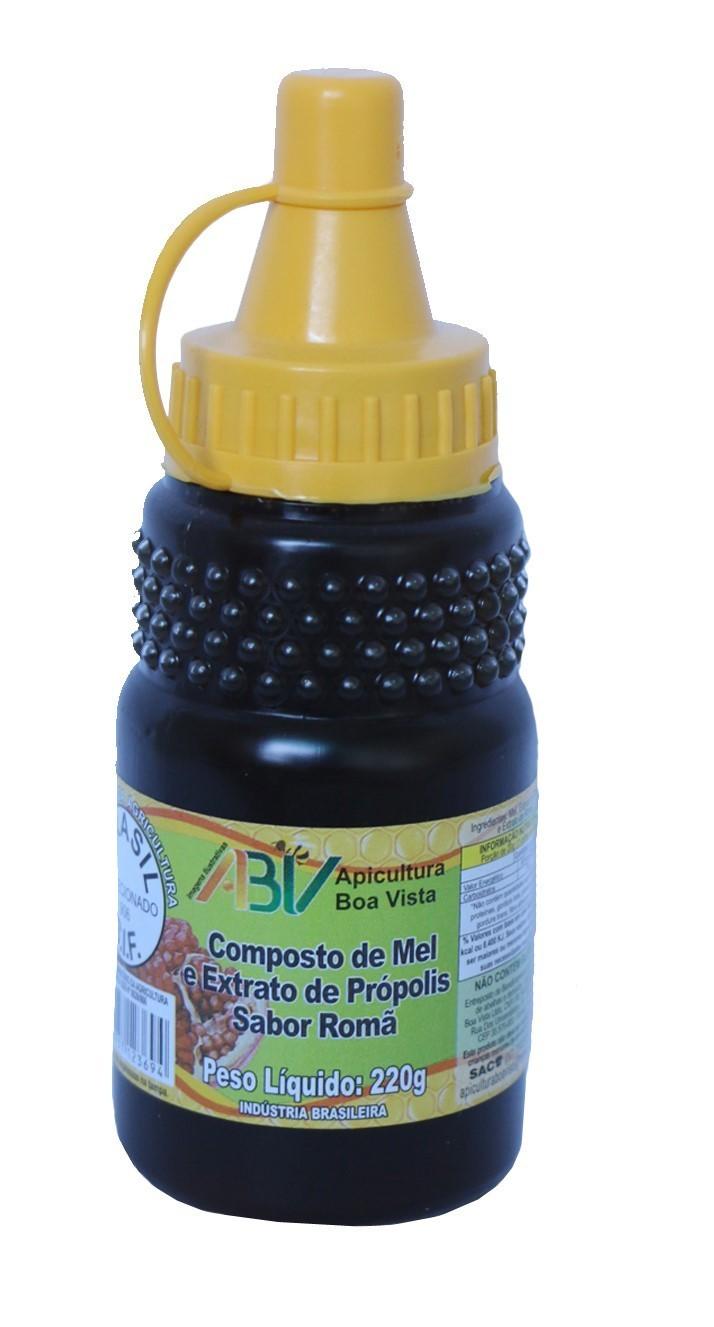 Composto de mel e extrato de própolis sabor romã bisnaga 220g