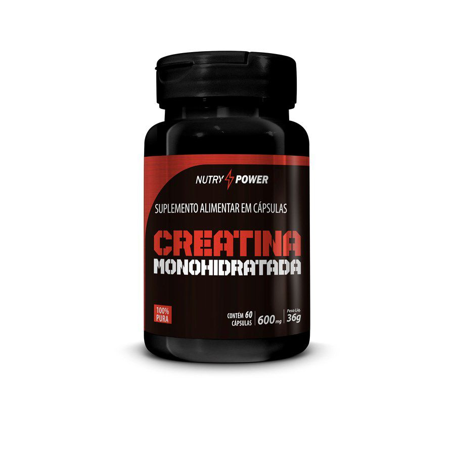 Creatina Monohidratada 60 caps 600mg
