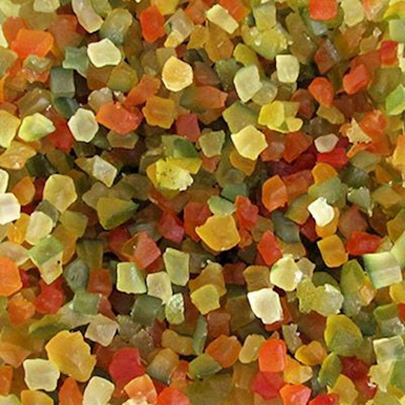 Frutas Cristalizadas Cubinhos (Granel 100g)