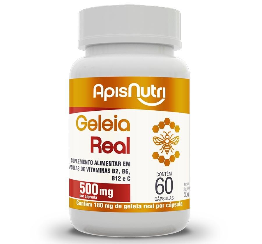 Geleia Real 500mg 60 Caps - ApisNutri