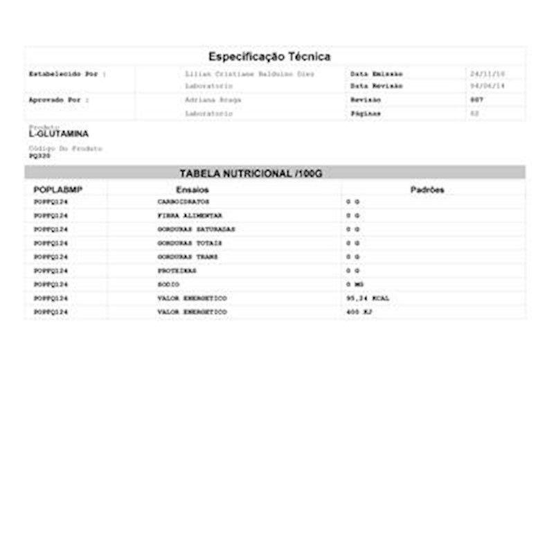 L-Glutamina  Importada New Step ( Granel 100g )